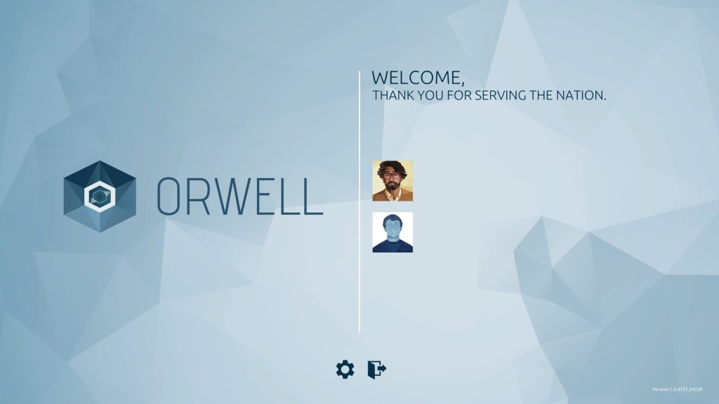 Orwell - Title Screen
