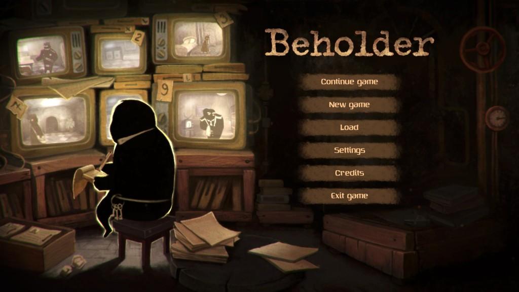 Beholder - Title Screen