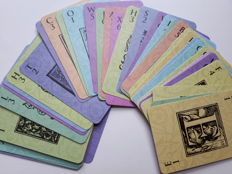 movable type - cards