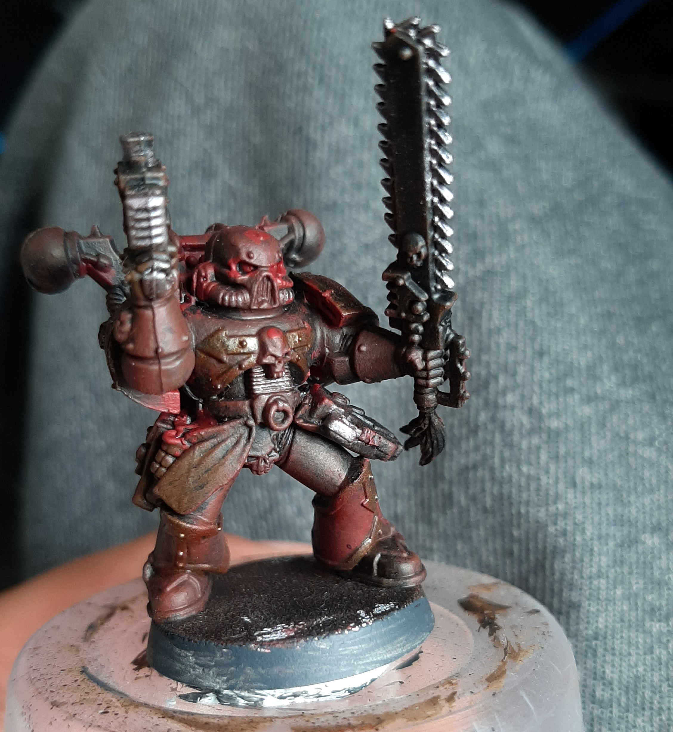 chaos space marine khorne in progress