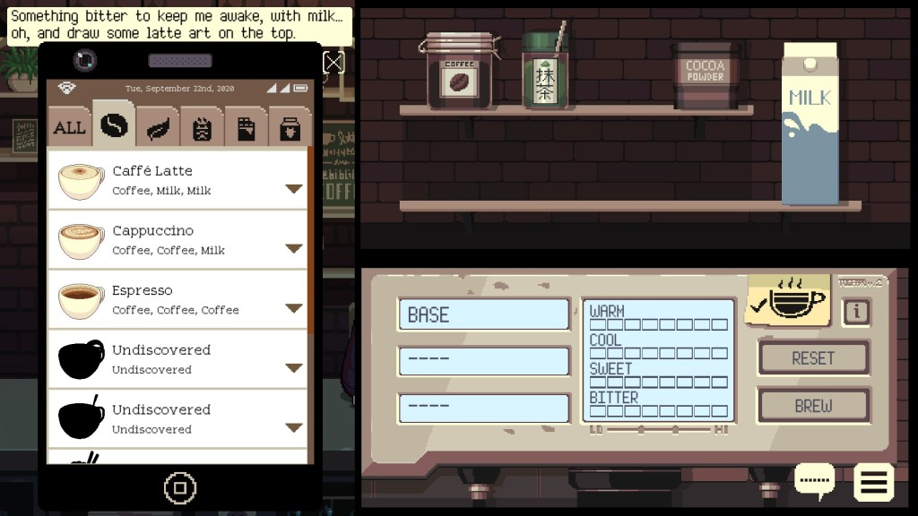 Coffee Talk gameplay screenshot