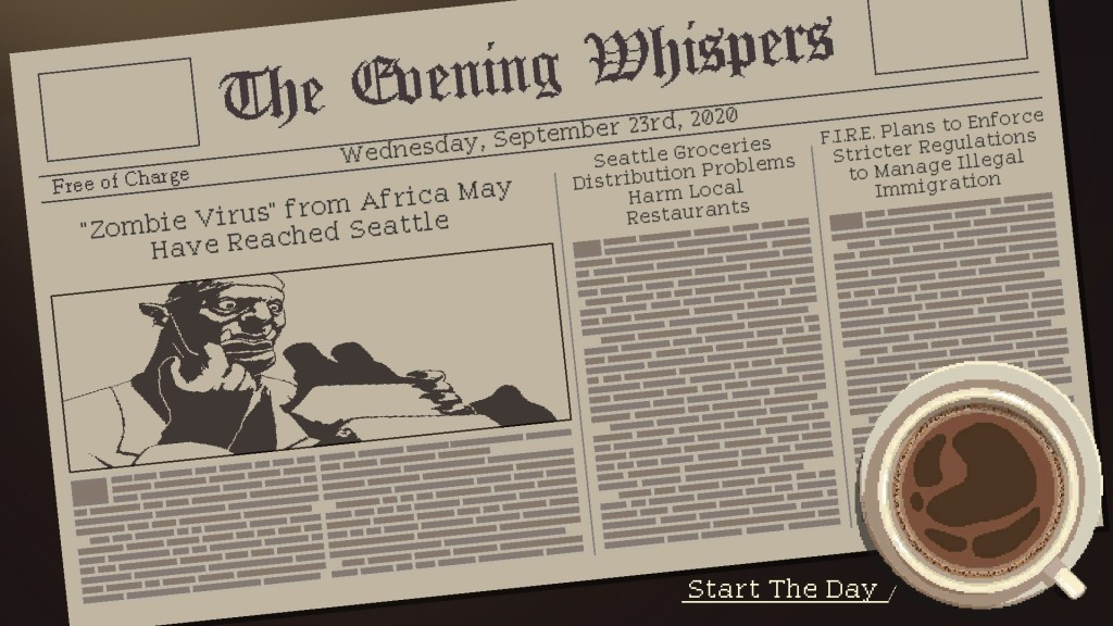 Coffee Talk Newspaper screenshot